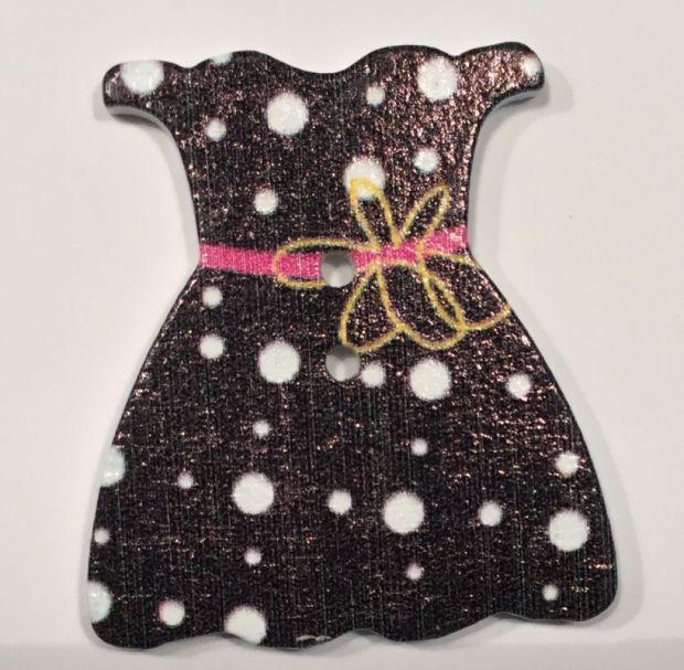 Holzknopf Kleidchen