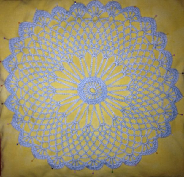 crochet cover lightblue