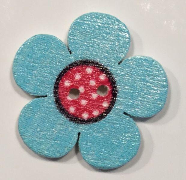wooden button flower