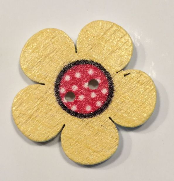 wooden button flower