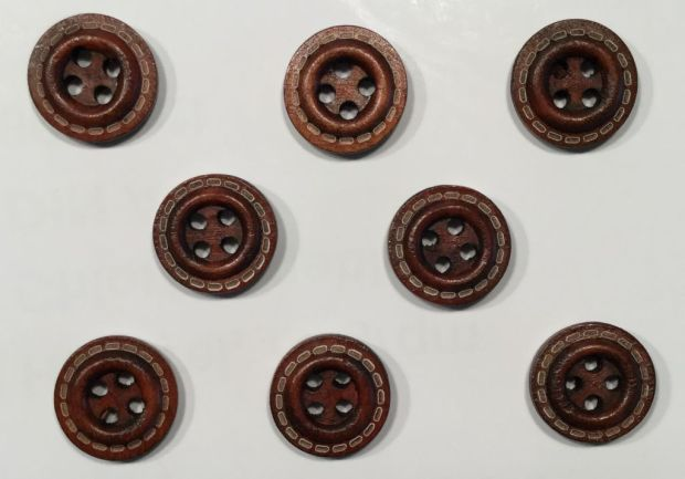 wooden bee-shaped buttons