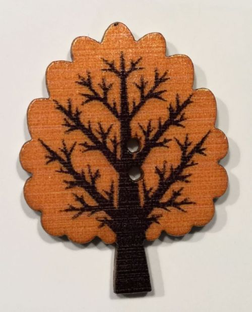 wooden button tree