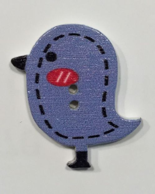 wooden button bird