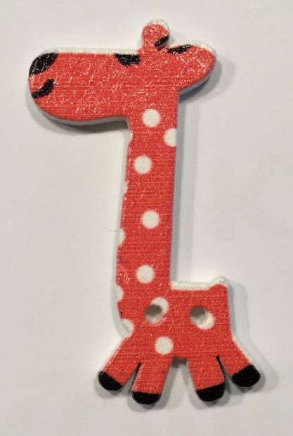 wooden button giraffe