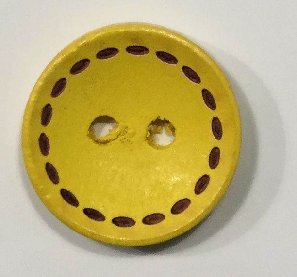 wooden button medium