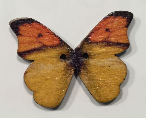 Holzknopf großer Schmetterling