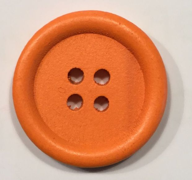 wooden button simply round