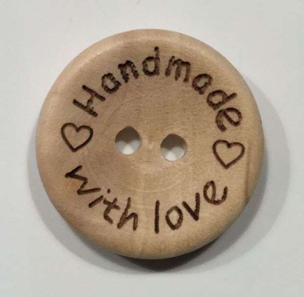 wood button handmade