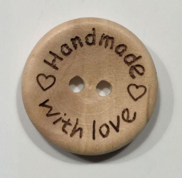Holzknopf Handmade