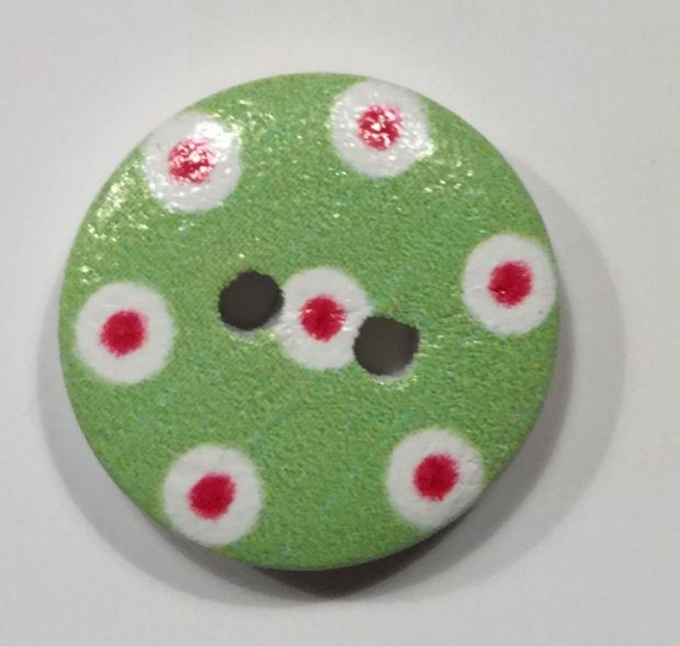 wooden button colorfull patterns
