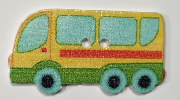 wooden button coach