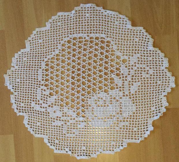 crochet cover ø 50cm