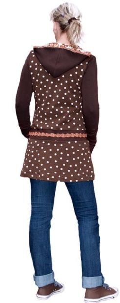 E Pattern and Sewing Instructions DEBORAH Sweatshirt, Sweat-Dress for Women