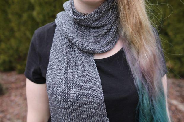 Scarf - metallic look