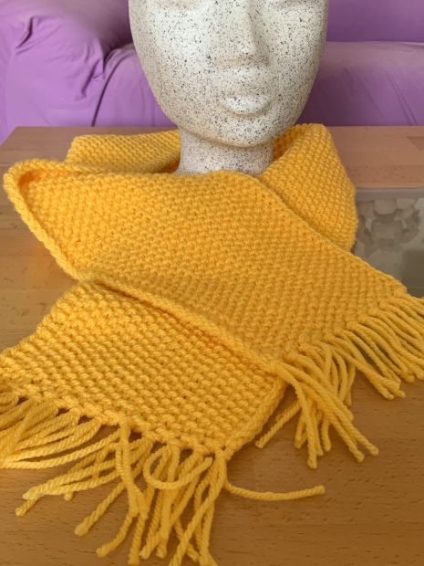 Childrens Scarf Pearl Pattern with Fringes