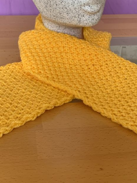 Childrens Scarf Double Pearl Pattern