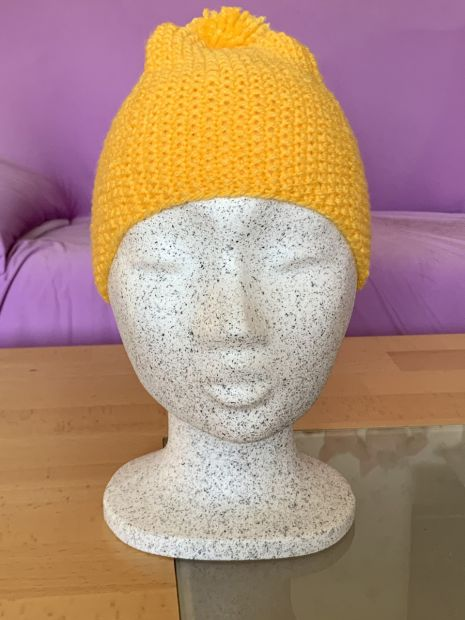 Childrens cap with bobble