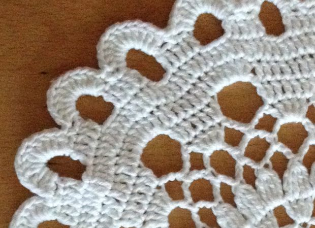 crochet cover white