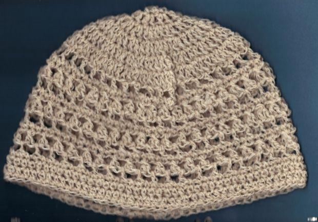 luftig gehäkelte Beanie Mütze