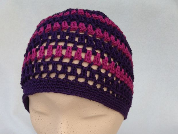 handcrochted colored beanie