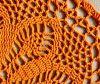 crochet cover orange