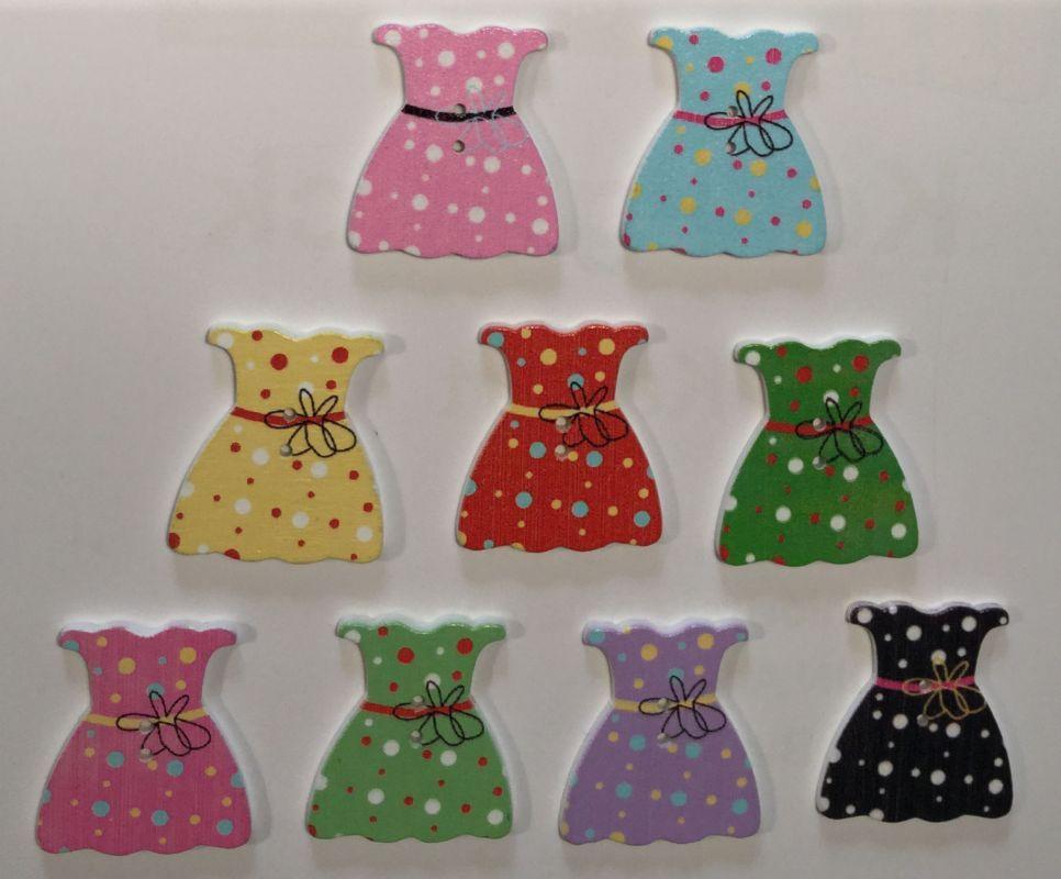 wooden button skirt