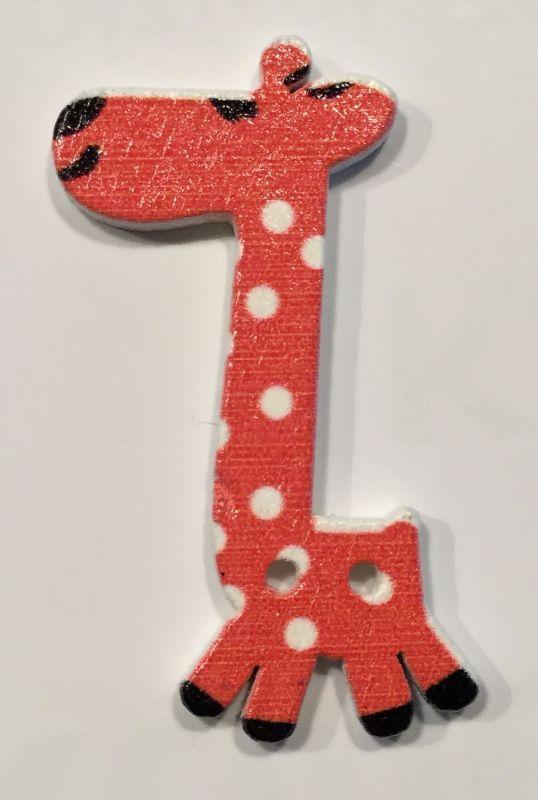 wooden button giraffe