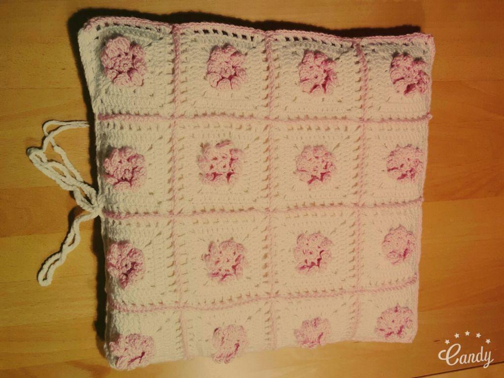 handmade crochet cushion cover