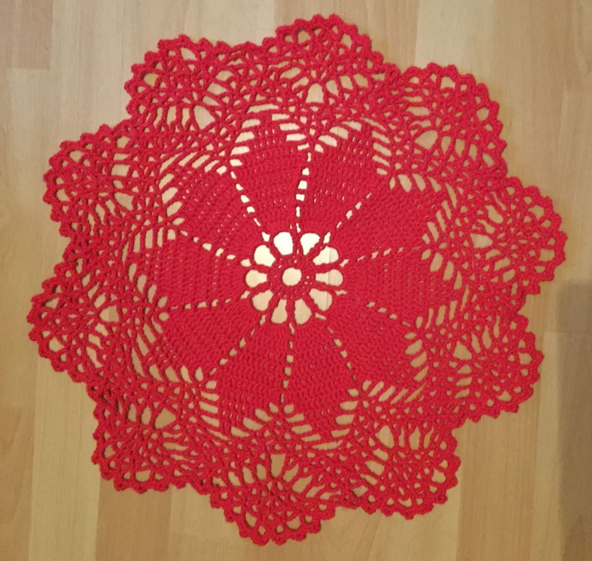 crochet cover red