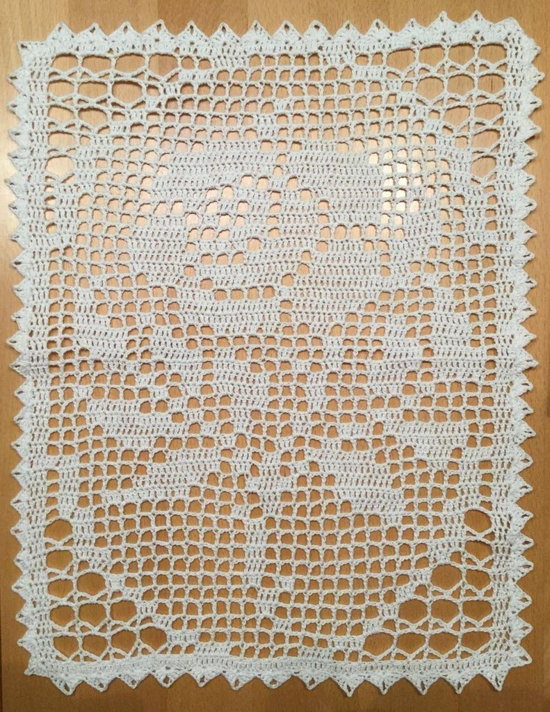nice doily with rose