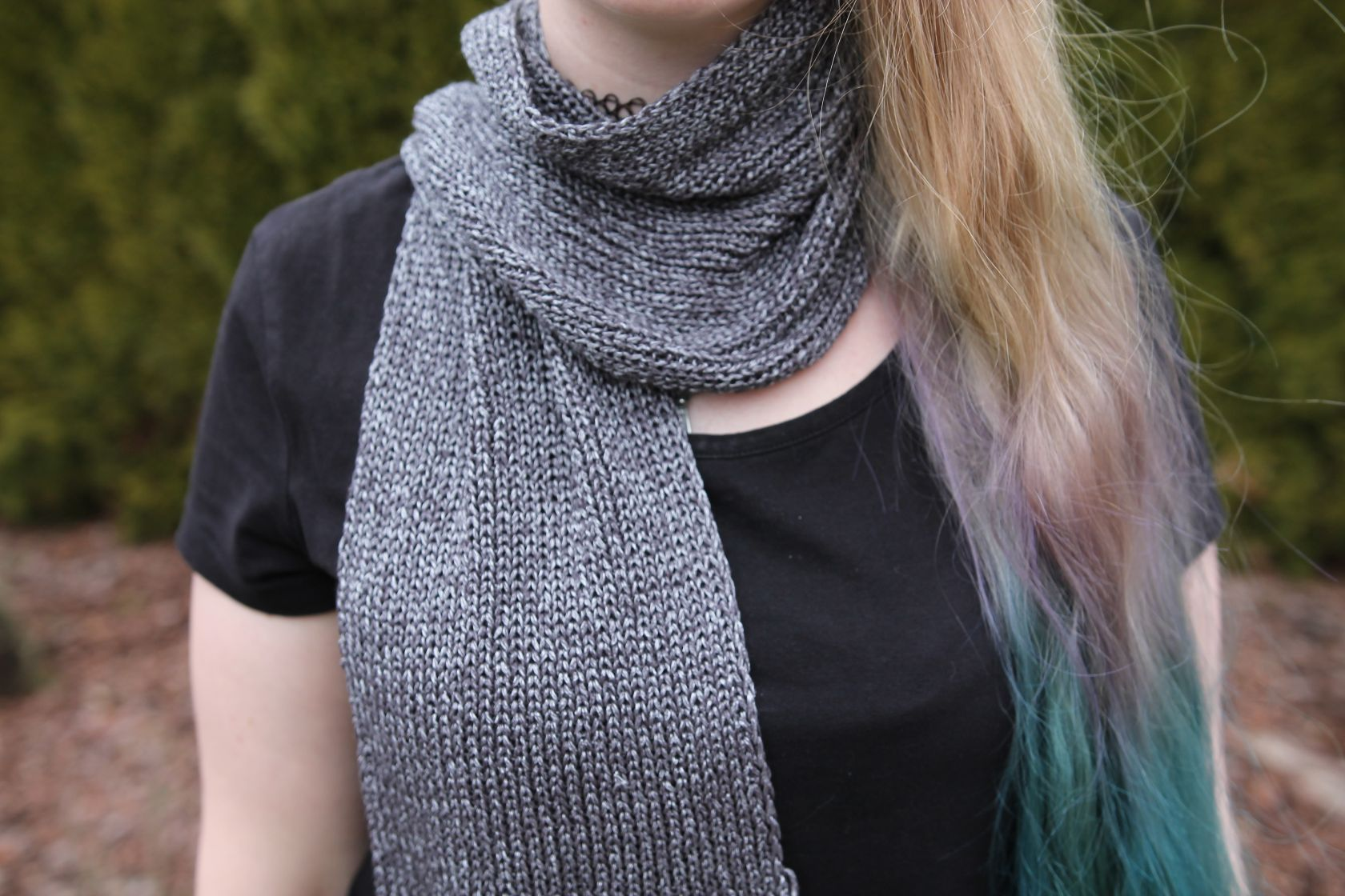 Scarf - metallic look