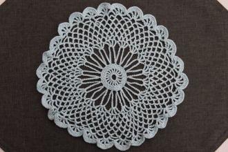 crochet cover lightblue