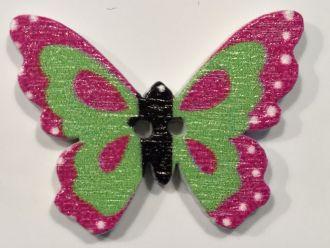 Holzknopf kleiner Schmetterling