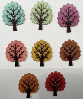 Holzknopf Baum