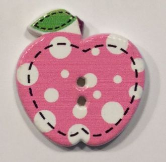wooden button apple