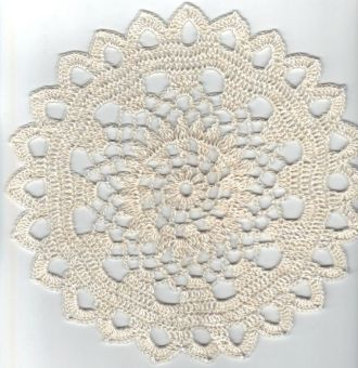 round white crochet doily ø 22cm