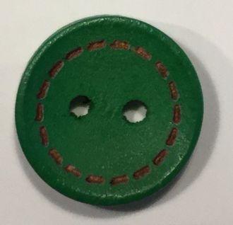 Holzknopf Naht-Optik klein