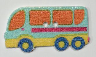 Holzknopf Reisebus
