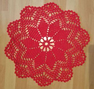 crochet cover red