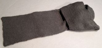 classic hand knitted scarf
