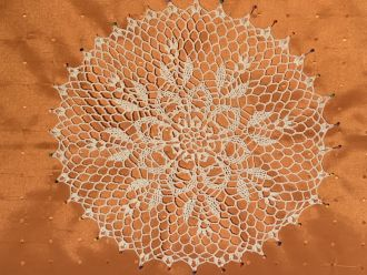 crochet doily  white