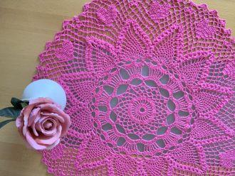 pink lattice round