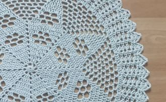 nice shabby crochet cover mint
