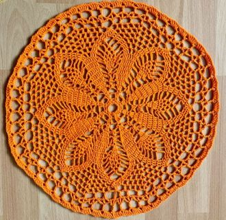 crochet cover orange