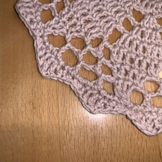 crochet cover light purple
