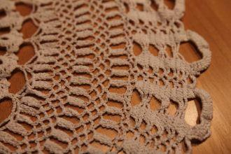 crochet cover white