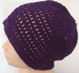 handcrochted blackberry beanie