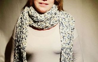 Scarf - finger crocheted