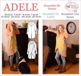 ADELE E-Pattern Sweatshirt, Long-Shirt for Woman