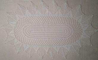 Deckchen oval 66x40cm